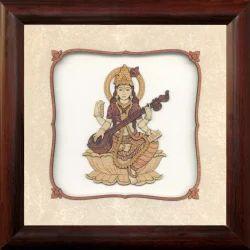 Brown Square Saraswati Painting Frame