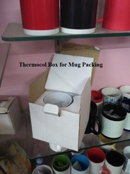 Thermocol Box for Mug Packing