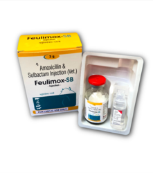 5ml-10ml Feulilife Scince Amoxicillin Sulbactam 3000 mg Veterinary Injection, Packaging Type: Vial With Stopper