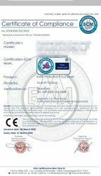 EN 149 Certificate