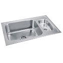 Stainless Steel Kitchen Sink with Mini Bowl & Drain Board