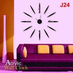 Black Decorative Acrylic Wall Clock