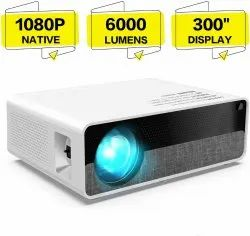 Punnkk x10 full hd 6000 lumens led projector with 2 years warranty