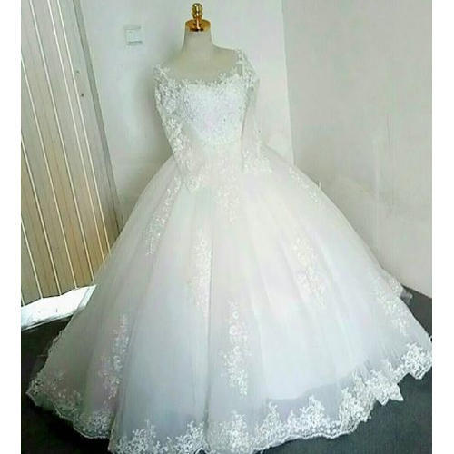 White Wedding Dress Under 500: White Medium Fancy Bridal Gown, Rs 26000 /set, Bellas
