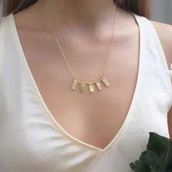 Minimalist Hammered Design Women Girls Necklace