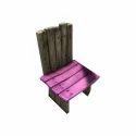 Brown Outdoor Wooden Chair