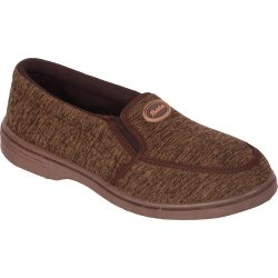 Casual Wear Brown and Grey Bata Men Printed Canvas Slip On Casual Shoes, Size: 6 To 10