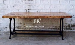 Firehouse Bar Table in Vintage Industrial Style