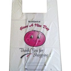 Multicolor Printed T-Shirt Bags, Bag Size (Inches): 10 X 15 Inches - 30 X 40 Inches