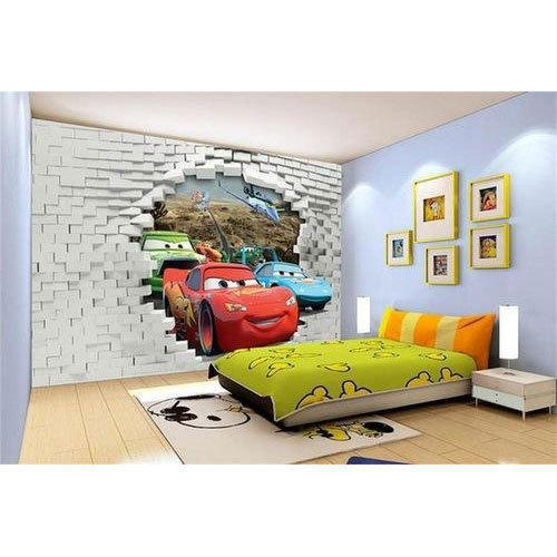 Use Childen S Room Wallpaper To Add Oodles Of Character: Horizontal Printed Kids Room 3d Wallpaper, Size: 6.5 X 4.5