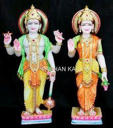 Marble Lakshmi Vishnu Sculpture