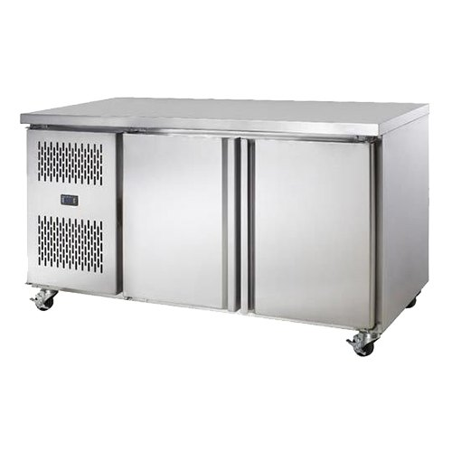 Number Of Doors: 2 Stainless Steel Double Door Commercial Refrigerator, Number Of Shelves: 4, Capacity: 300 L