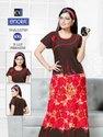 ENORA Hosiery Printed Nightgown