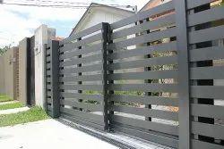 Iron Slide Telescopic Sliding Gate, For Home