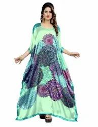 Beach Style Long Digital Printed Free Size Kaftan For Women