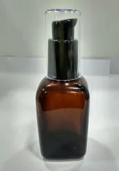 30ML Square Amber Bottle With Lotion Pump