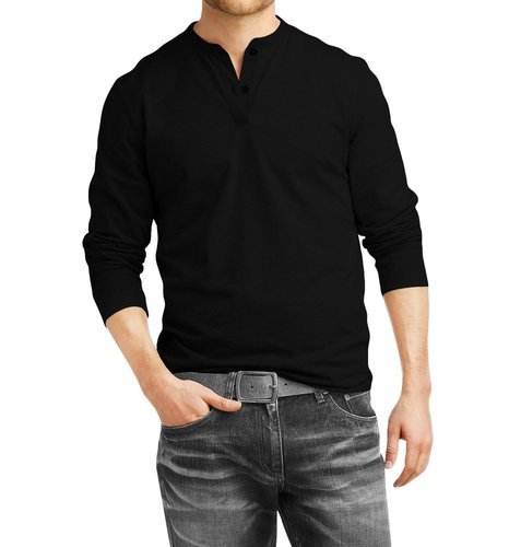 2f038a92e55 Cotton Henley Full Sleeve T Shirts