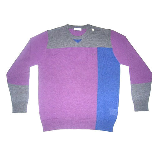 c69c75ae3d Woolen Full Sleeves Mens Round Neck Plain Sweater