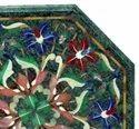 Pietra Dura Lapiz Lazuli Marble Inlay Table Top