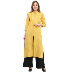 Cottinfab Self Design Kurta and Palazzo Set