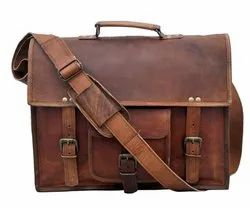 Leather Office Messenger Bag
