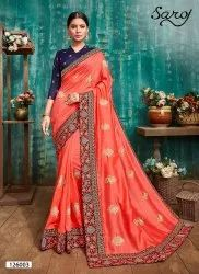 Ethnic Designer Vichitra Silk Saree