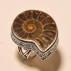 Bohemian Style Silver Oxidized Handmade Women Ring