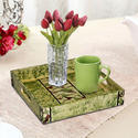 Wooden painted handicraft serving tray