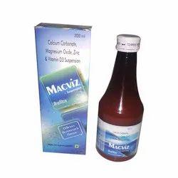Calcium Carbonate, Magnesium Oxide, Zinc & Vitamin D3 Suspension
