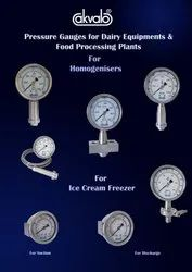 Pressure Gauges For Ice Cream Manufacturing Machines