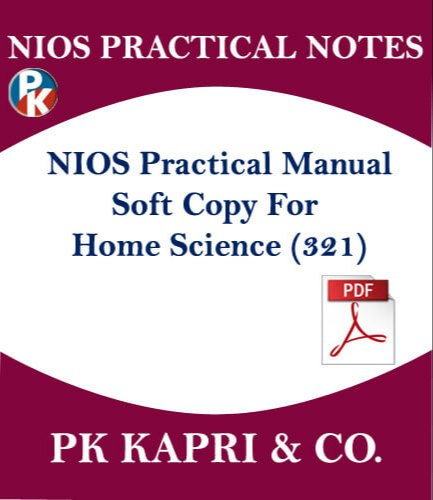 Nios Lab Manual Record File Home Science 321 In Pdf For Sr Secondary Class