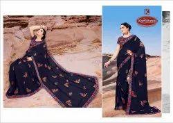 Printed Georgette Saree - Sangeeta