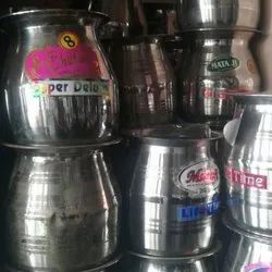 Silver 2 L Stainless Steel Water Lota