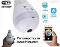 360 Degree Wireless IP Bulb Light Fish Eye Smart Home Security WiFi Camera Panoramic