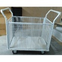Tms Industrial Material Handling Wire Mesh Trolley With 4 Sides Mesh, Capacity: 500 Kg