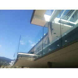Bolted Balcony Glass Railing