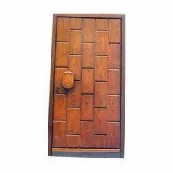 Exterior Brown Decorative Wooden Door