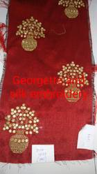 Georgette And Silk Embroidery