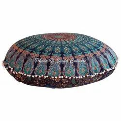Mandala Printed Outdoor Round Floor Pillow