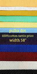 Satin Print Polka Dot Shirting Fabric