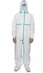 PPE Kit Coverall for Covid-19 Laminated PP Spunbond Fabric Of 90 GSM (Sitra Approved)