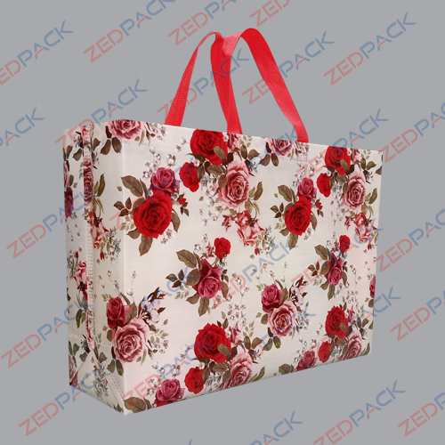 Pp Loop Handle Non Woven Box Bag, Capacity: 5kg, Size: 305 (H) x 430 (W) x 100 (G) mm