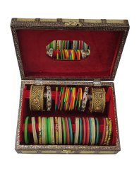 Wooden 2 Roll Bangle Box for Home