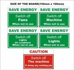 Rectangular Reflective Safety Signage, For Industrial
