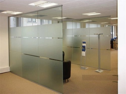 Frosted Glass Door And Partition 12mm Toughened Glass