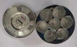 Printed Container Stainless Steel Masala Dabba, For Kitchen, Packaging Type: Single
