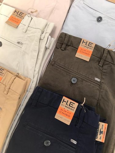 Cotton Lycra Mens Chinos And Trousers