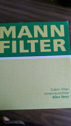 Paper Core Mahindra SUV Cabin Filter