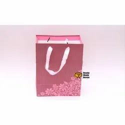 Pink Flower Designer Paper Bag