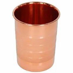 Plain Copper Glass for Home, Capacity: 400 mL